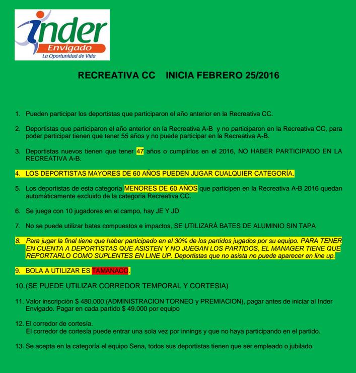 reglamento-recreativa-cc-softball-envigado-2016
